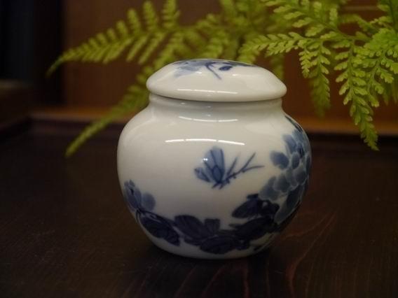 牡丹青花茶罐-4