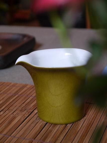 黃綠小茶盅-2