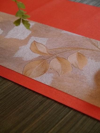 灰底棕花茶巾B款-1