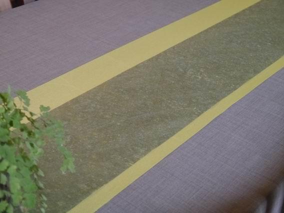 綠防水龍雲茶巾和亮黃布茶巾-1