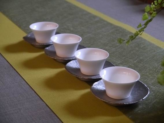 綠防水龍雲茶巾和亮黃布茶巾-5