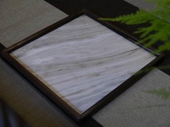 a31日本石盤茶盤、壺承-2