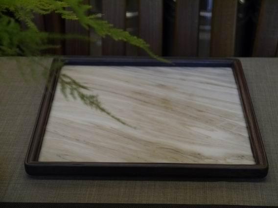a31日本石盤茶盤、壺承-6