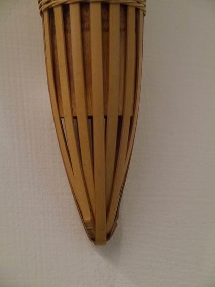 E84日本竹編吊掛花器-5
