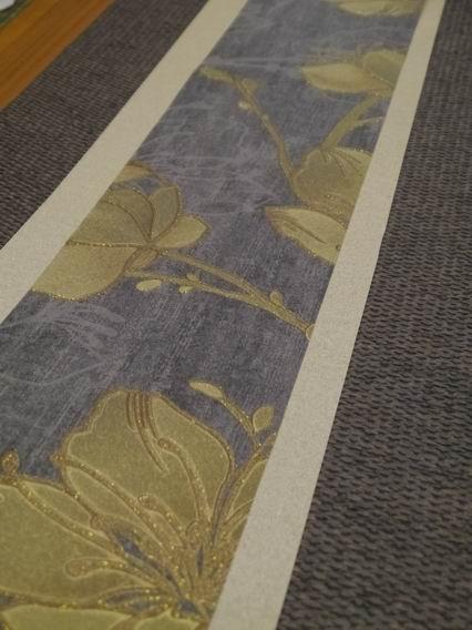 灰藍金花茶巾-01