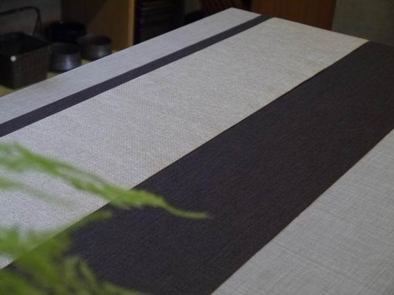 深咖啡+金格紋茶巾-2