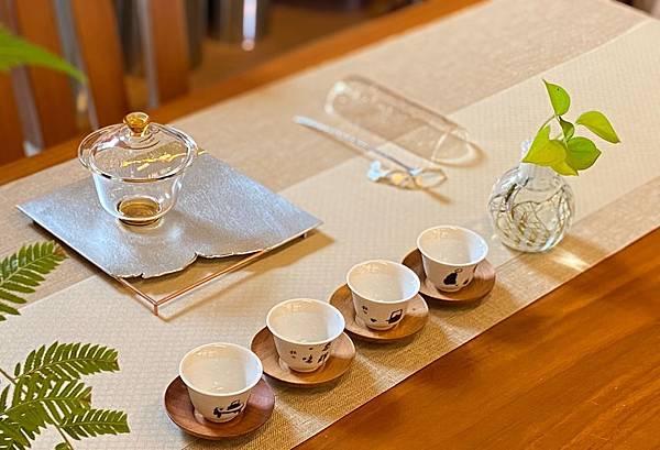 淺鵝黃菱紋茶巾組-2。.jpg