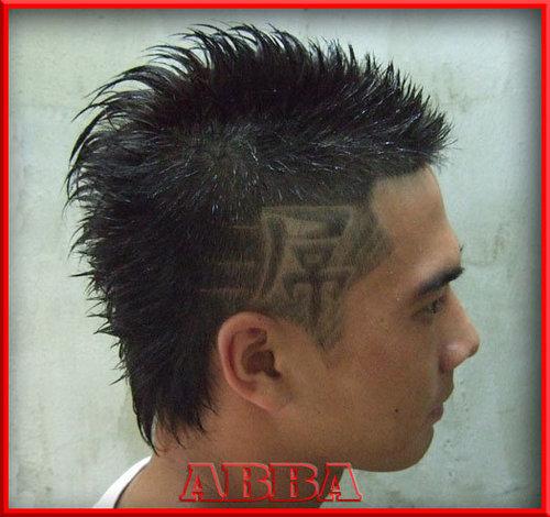 漢男士髮型設計之屌字刻圖髮型