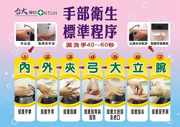 103年版洗手流程圖