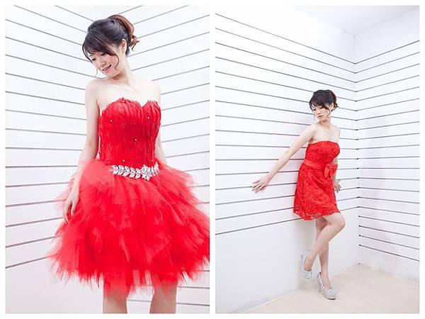 紅色伴娘服