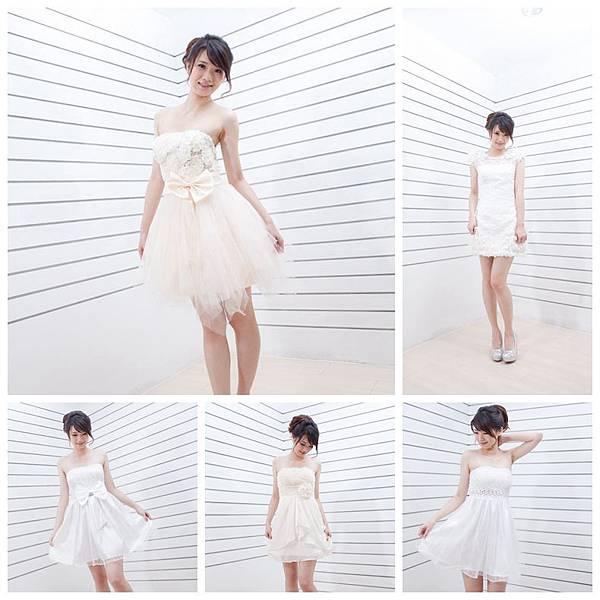 白色伴娘服