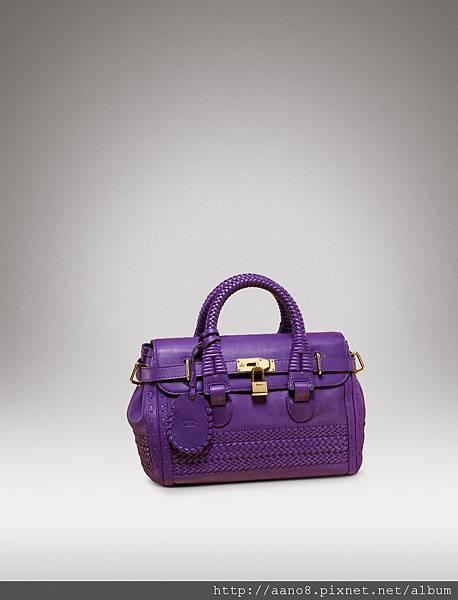 局部編織紫色牛皮鎖頭包 $128200.jpg