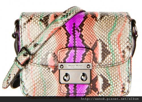Miu Miu Special-Edition Python Bags