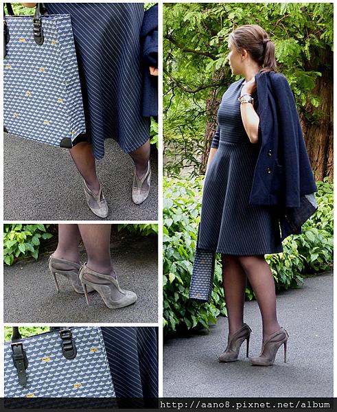 alaia shoe boot - claudie pierlot dress - faure le page 2