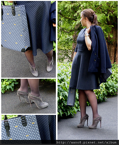 alaia shoe boot - claudie pierlot dress - faure le page 2