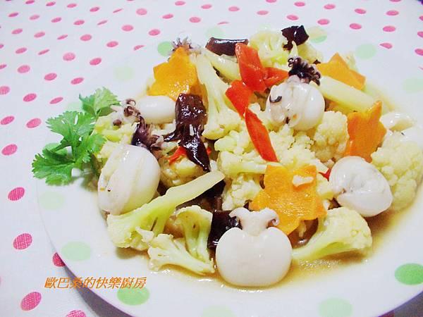白花椰菜燴小花枝 (10)