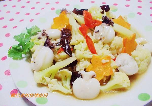 白花椰菜燴小花枝 (9)