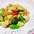鮮蝦炒時蔬