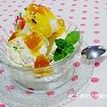 【簡單快速自製~煉奶芒果冰淇淋】