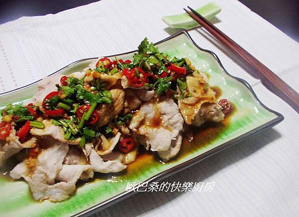 涼拌梅花豬肉片