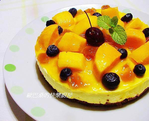 免烤~芒果椰奶起士蛋糕