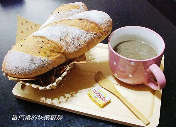 免揉~芝麻歐風麵包