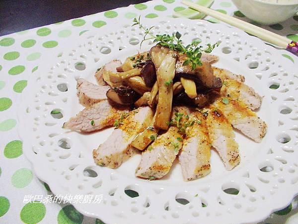 百里香松板豬佐紅 椒醬(11)