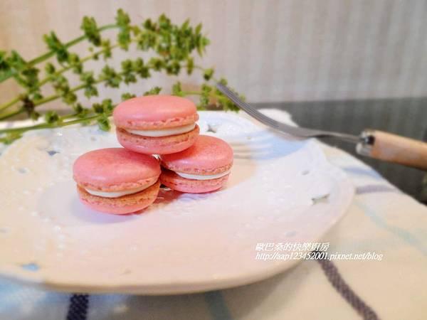 【草莓甜心馬卡龍】