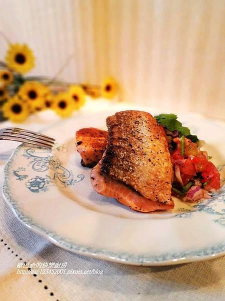 【邀稿】~鮭魚排佐墨西哥莎莎醬