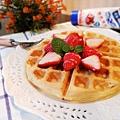 自製鬆餅粉~【草莓煉奶美式鬆餅】
