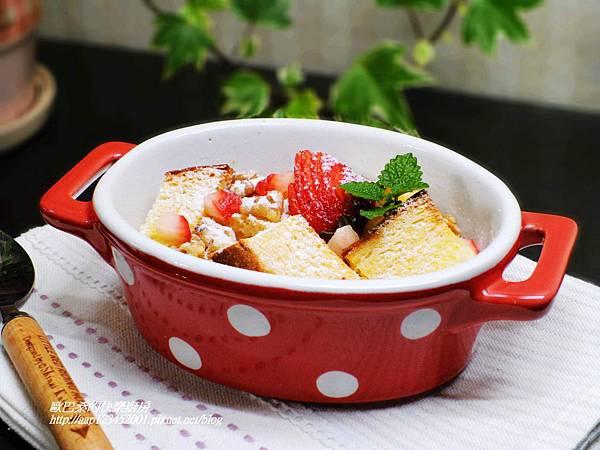 [邀稿合作食譜]~堅果香麵包布丁