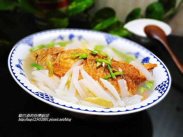 蘿蔔絲蒜苗鮮魚湯