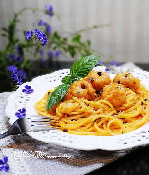 【邀稿合作食譜】~蕃茄羅勒海味義大利麵