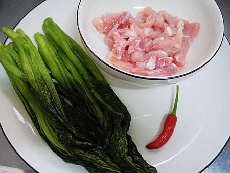 雪菜炒肉絲 (1)