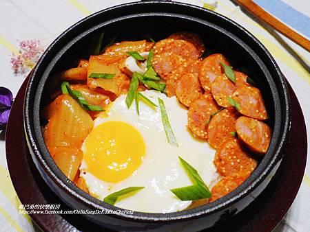韓式泡菜香腸石鍋拌飯 (10)