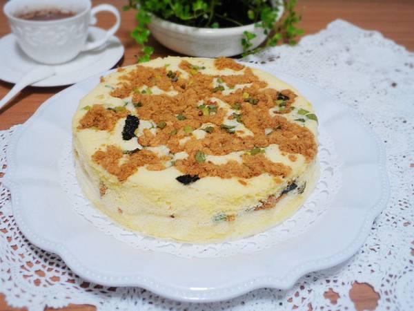 【香蔥肉鬆鹹蛋糕】