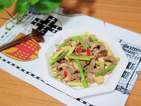 蘆筍炒肉絲 (17)