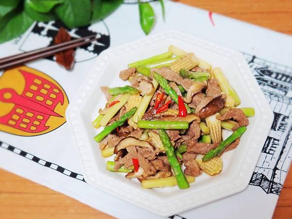 蘆筍炒肉絲 (15)