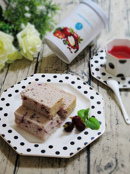花果茶天使蛋糕&香檳氣泡鮮果茶