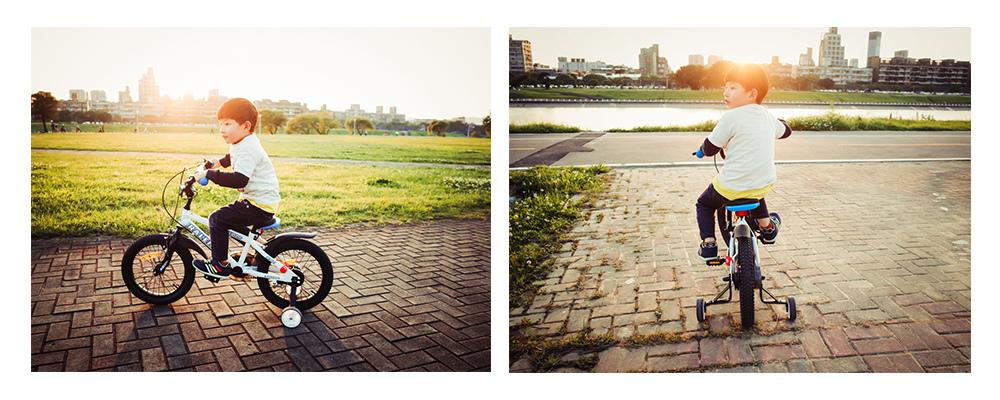 兒童腳踏車四輪腳踏車親子攝影師