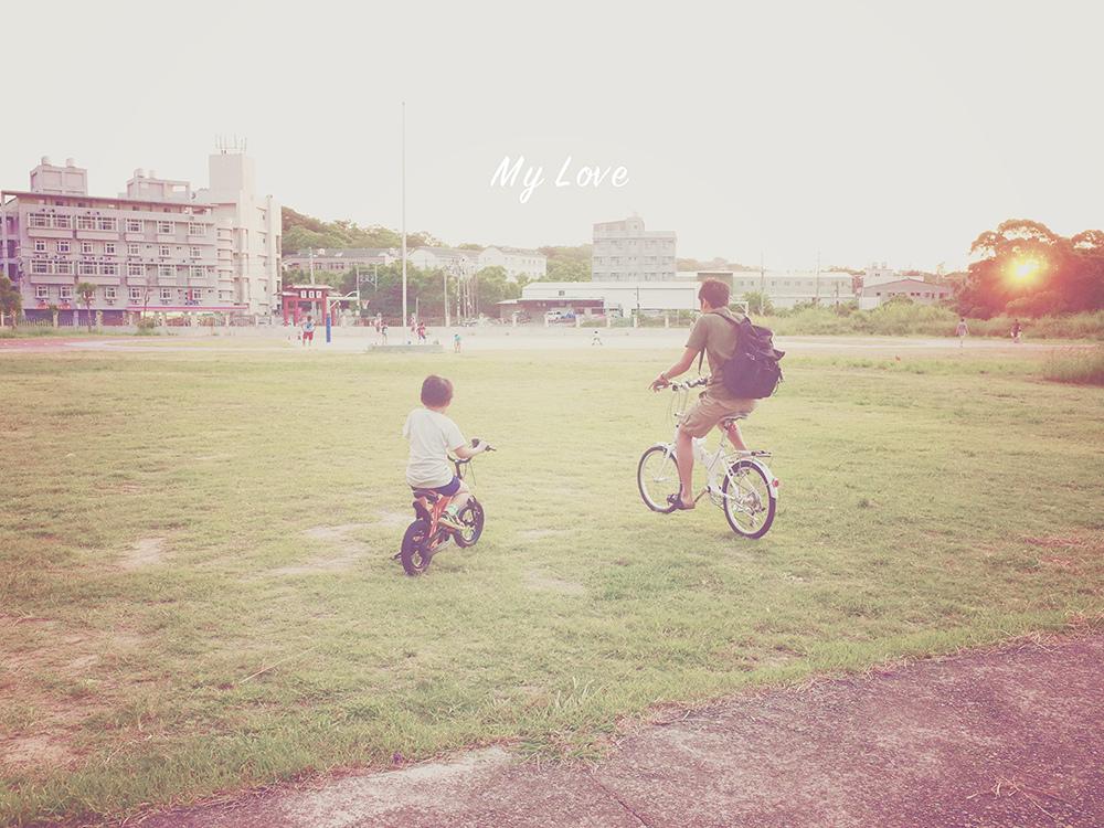 幼兒學習腳踏車
