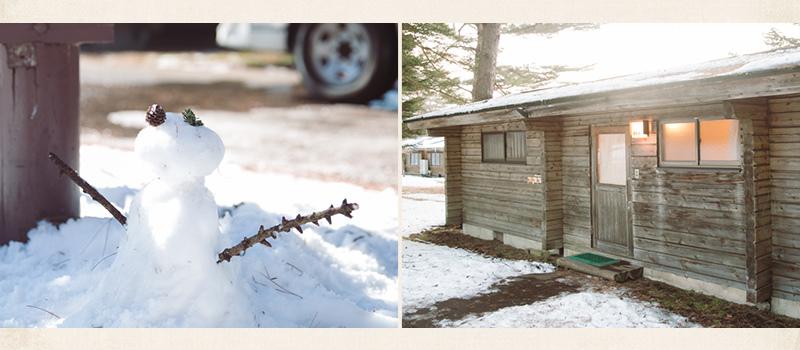 輕井小木屋雪景