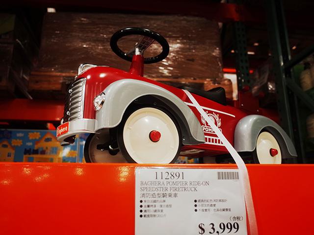 好市多法國Baghera Fireman消防小跑車嚕嚕車消防車
