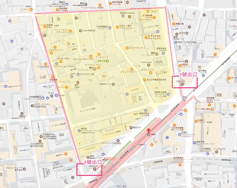 大阪景點中崎町交通地鐵