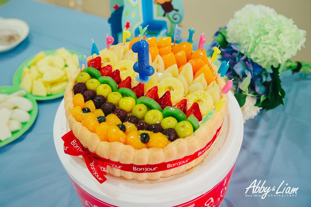 法式水果布丁小孩生日蛋糕