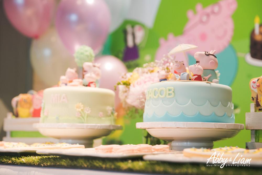 粉紅豬小妹Peppa Pig生日派對主題設計蛋糕