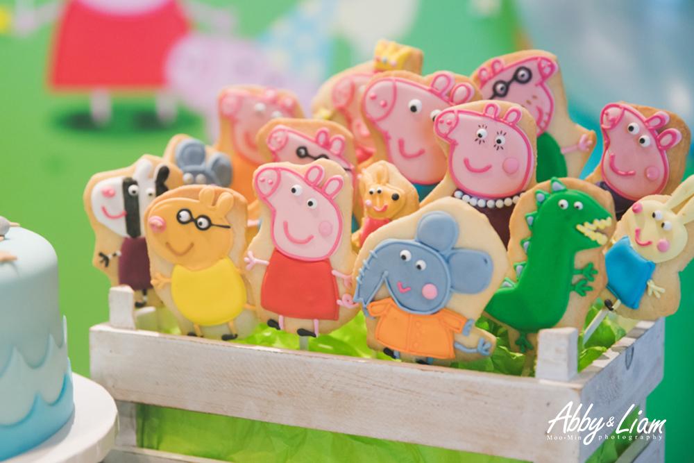 粉紅豬小妹Peppa Pig生日派對翻糖餅乾
