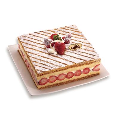 耶里的蜜如妃草莓千層蛋糕
