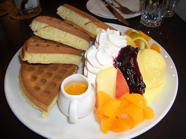 最經典的水果鬆餅