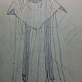 清香白蓮的衣裳背面